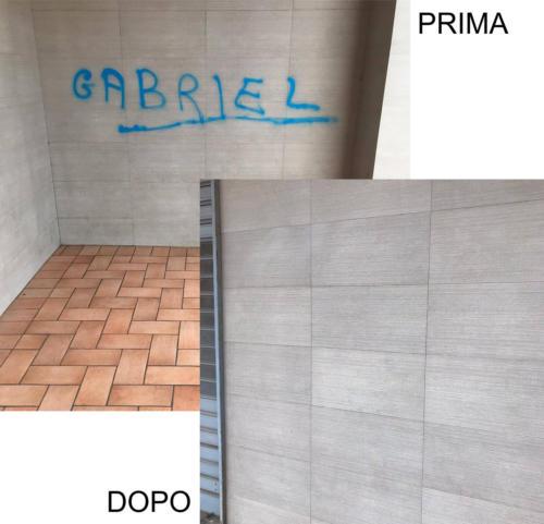 rimozione scritte murali